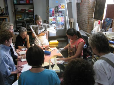 Experimental Encaustic workshop with Shawna Moore