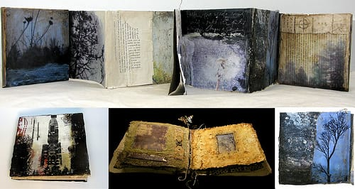 journals, visual journals, and book art