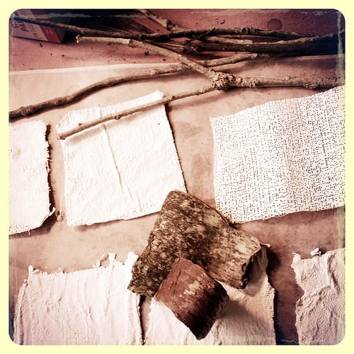 plaster, wax, and book art