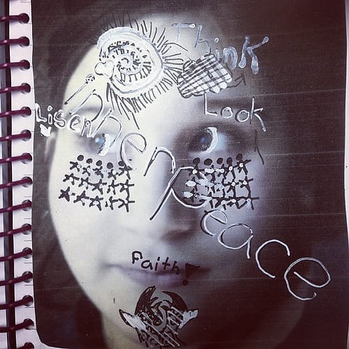 visual journaling: 1.1.2014