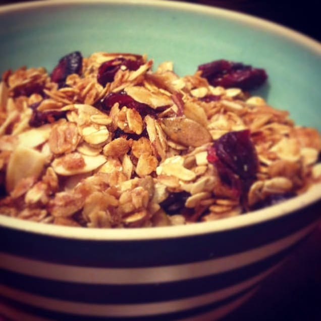 On My Kitchen Table: Cinnamon, Almond, and Cranberry Granola