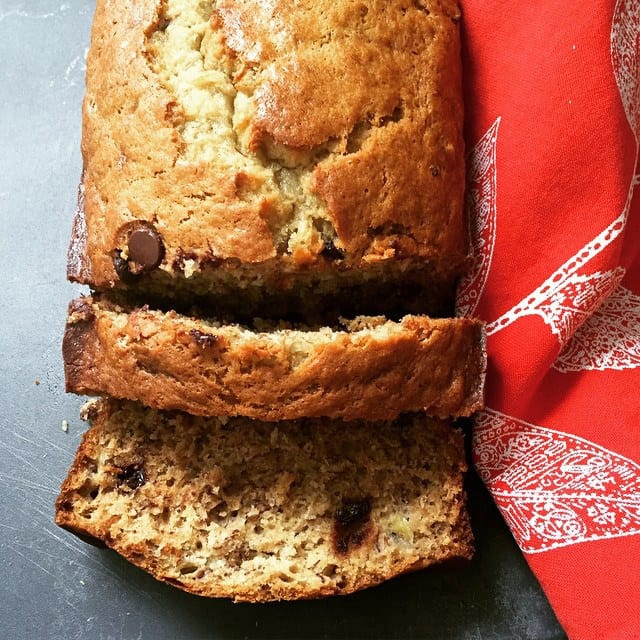 On my kitchen table: banana bread