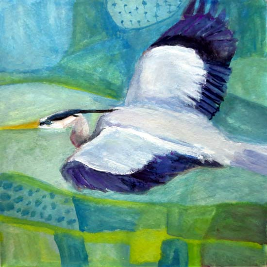 No. 100: Flight of the Great Blue Heron