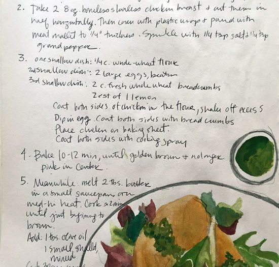 week 14: Crispy Chicken Schnitzel with Herb Brown Butter
