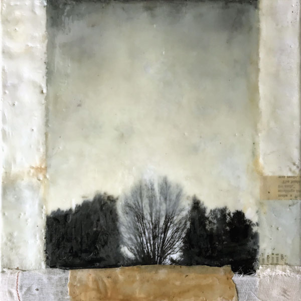 encaustic mixed media painting, In Trust by Bridgette Guerzon Mills