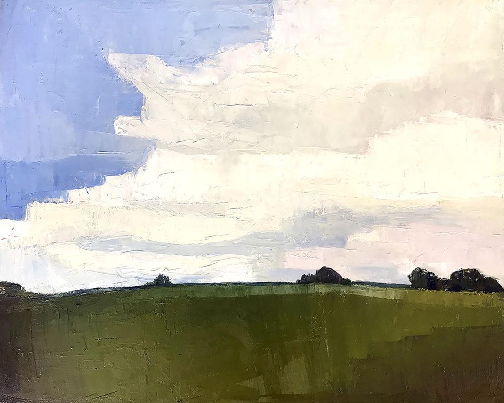 Oil painting, Before the Storm, by Bridgette Guerzon Mills
