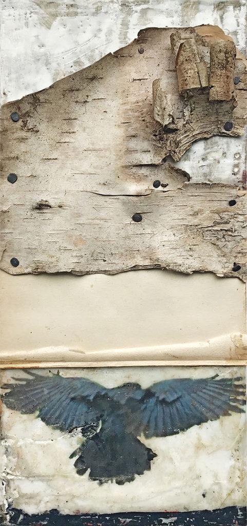 "Encaustic mixed media ""Paths Between Worlds"" by Bridgette Guerzon Mills"