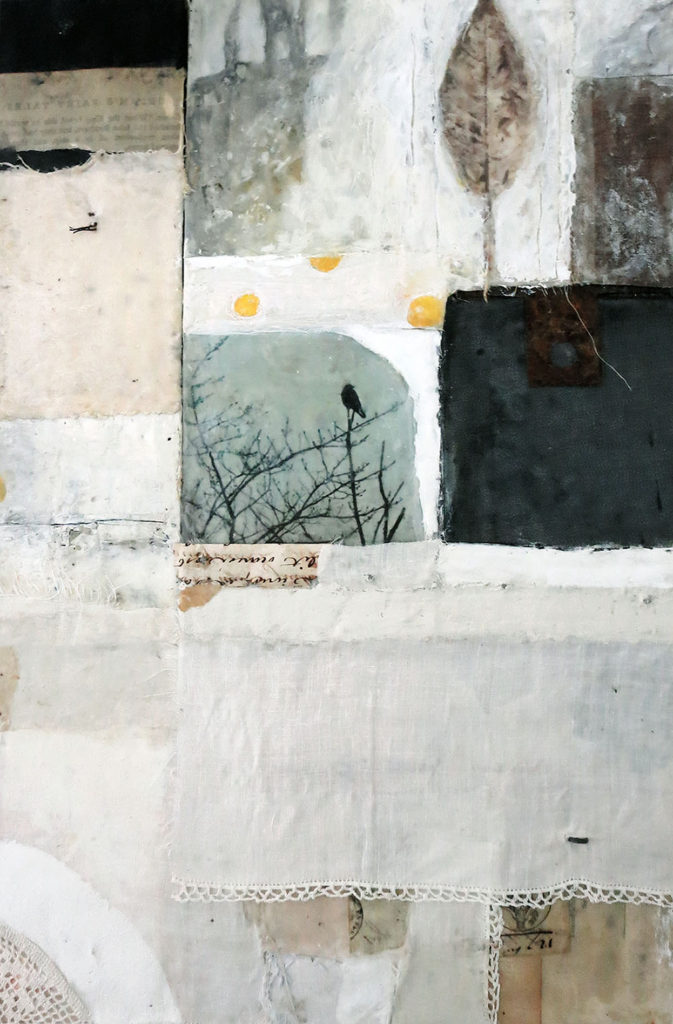 """Encaustic Mixed Media painting """"In the Midst Of"""" by Bridgette Guerzon Mills"""