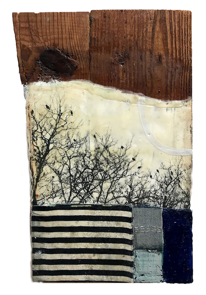 """Encaustic mixed media """"The World is Full of Signs"""" by Bridgette Guerzon Mills"""
