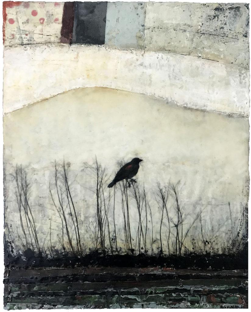 """encaustic mixed media painting """"Sanctuary"""" by Bridgette Guerzon Mills"""