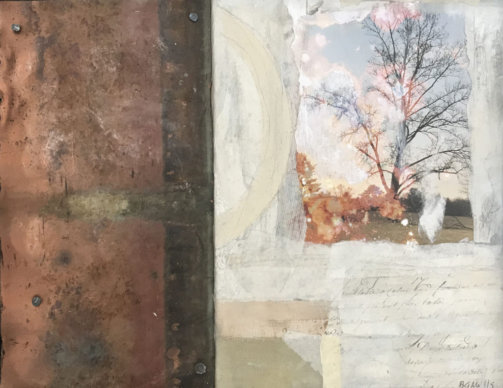 mixed media Evidence of Being by Bridgette Guerzon Mills