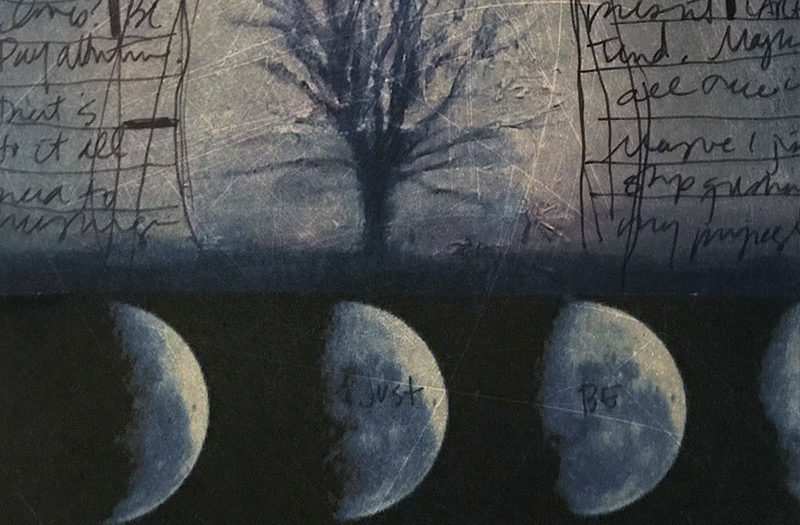 journaling: tree and moon phases